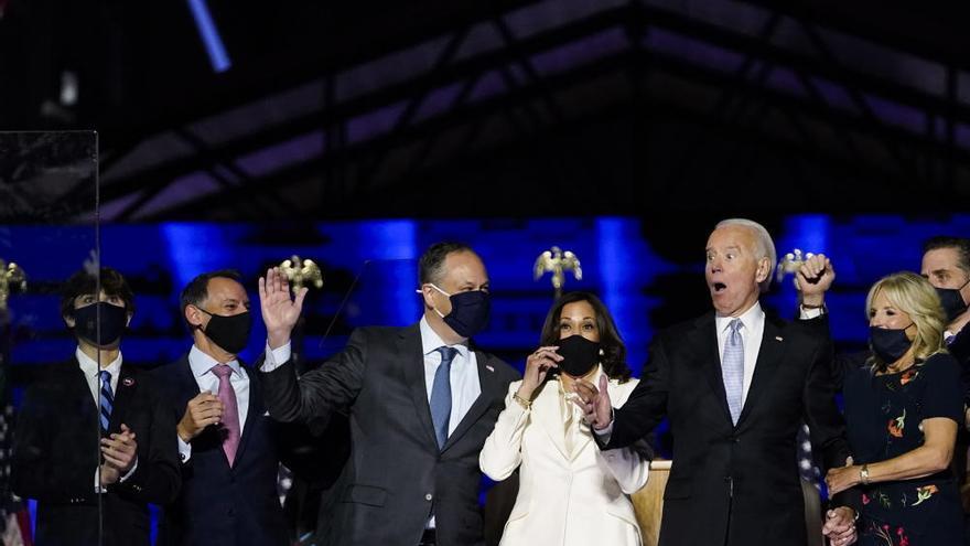 Joe Biden celebra su victoria en las elecciones de EEUU