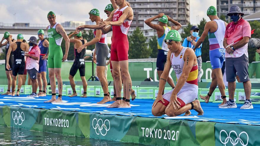El doloroso último viaje olímpico de Gómez Noya
