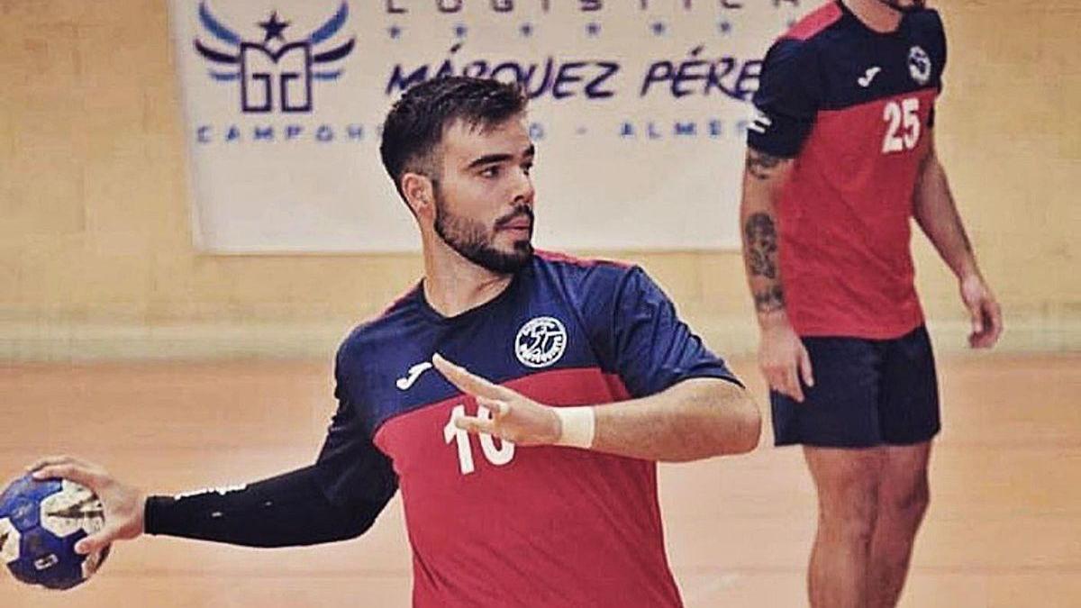 Toni Sánchez, durante un partido.
