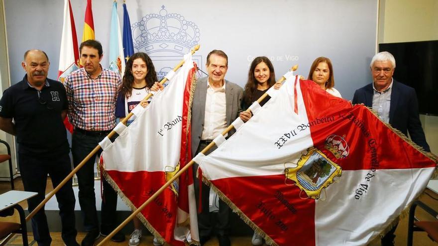 O Vao acoge la Bandeira Concello de Vigo