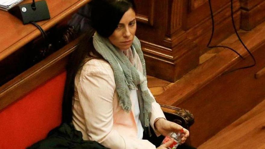 Rosa Peral durante el juicio por el crimen de la Guardia Urbana.