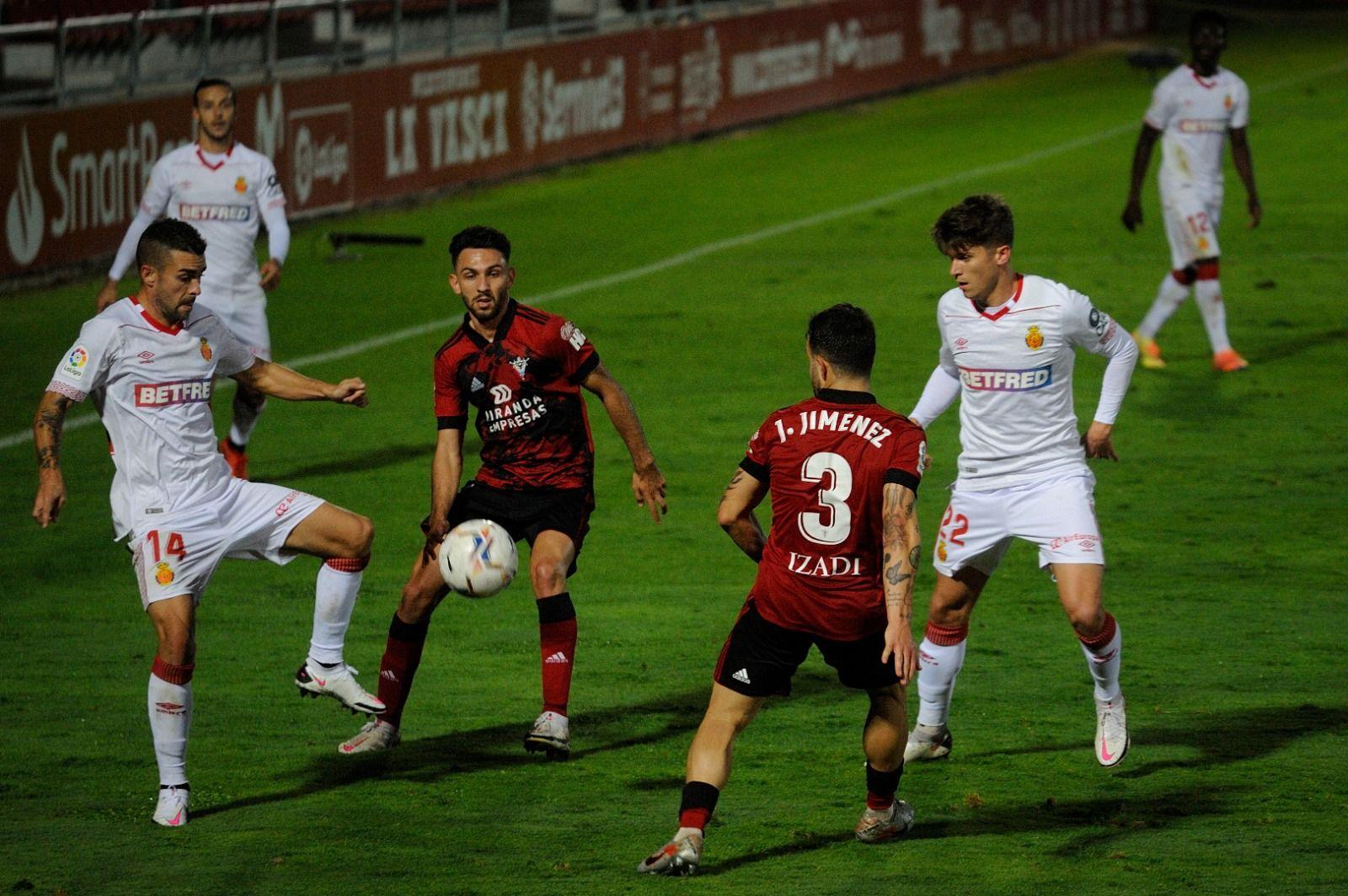 Mirandés-Mallorca: Los bermellones dan por bueno el empate