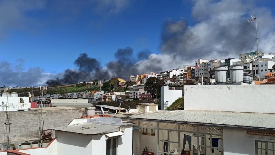 Incendio en una panificadora de Las Torres