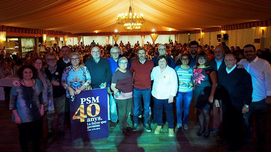 El PSM reúne a 700 personas en Algaida en la fiesta de su cuarenta aniversario