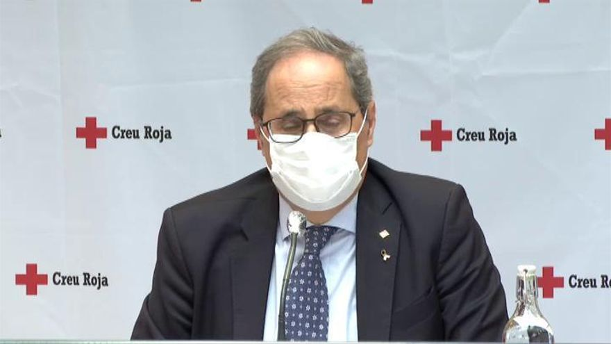 Quim Torra pide a los catalanes que no viajen a Madrid