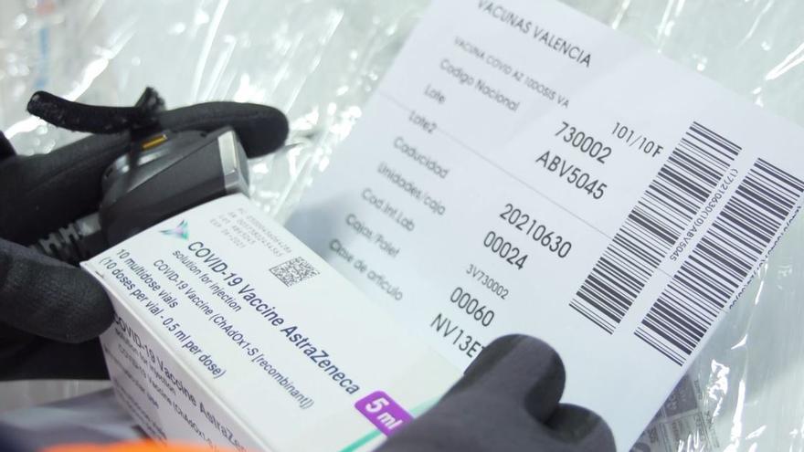 Tiras térmicas, fotos de detalle y camuflaje para transportar las vacunas de la covid