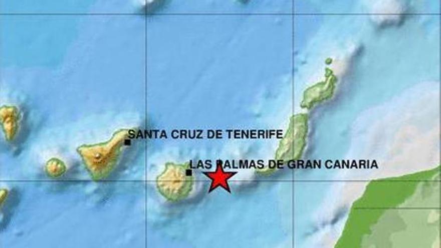 Seísmo entre Gran Canaria y Fuerteventura