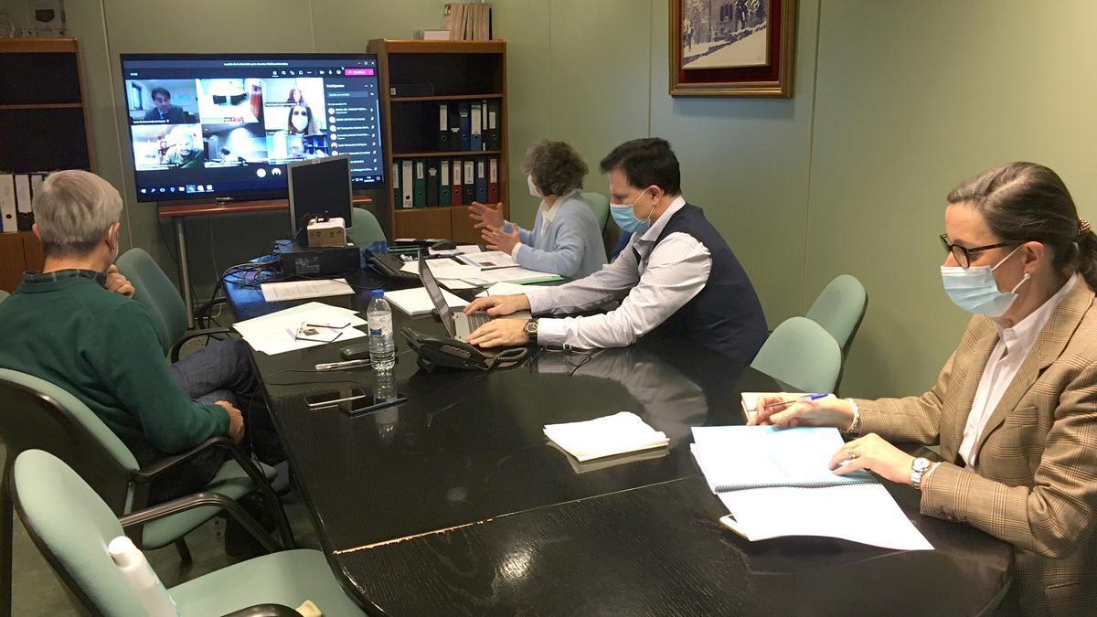 La reunión de la Comisión Medioambiental, ayer.