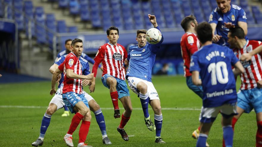 El partido entre el Oviedo y el Lugo, en imágenes