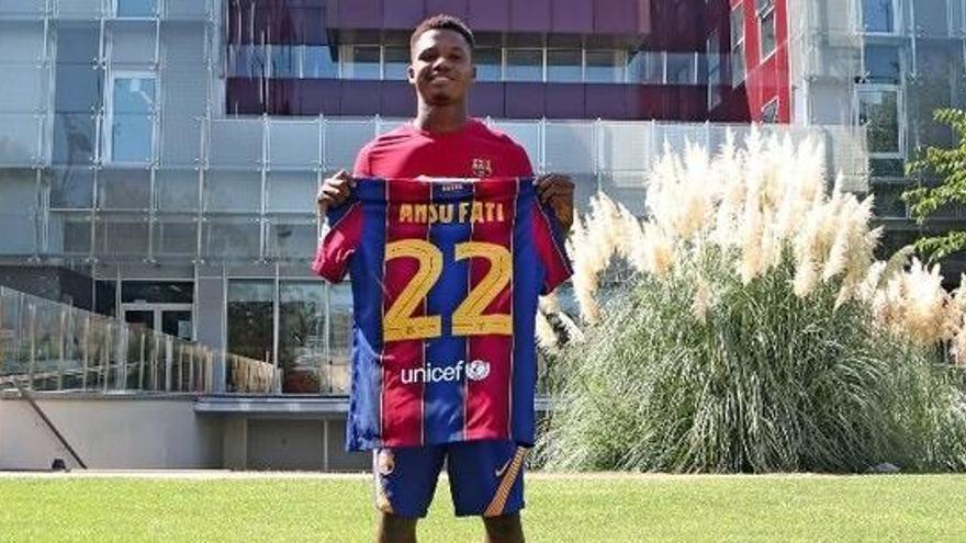 Ansu Fati ja té fitxa del primer equip i una clàusula de 400 milions d'euros