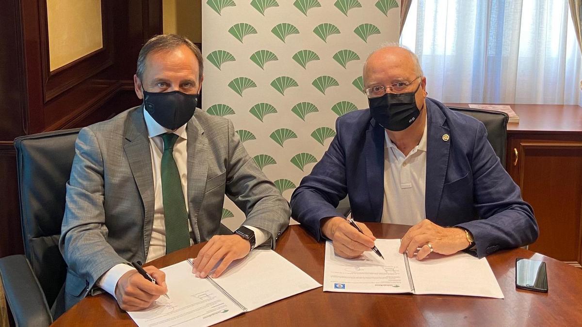 Unicaja Banco renueva su acuerdo con las cofradías de Gloria de Málaga para respaldar su desarrollar