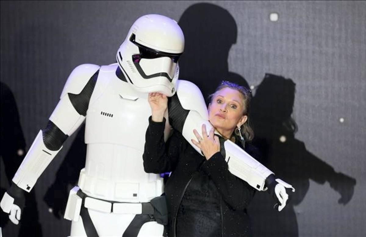 La vida de la intérprete de la princesa Leia