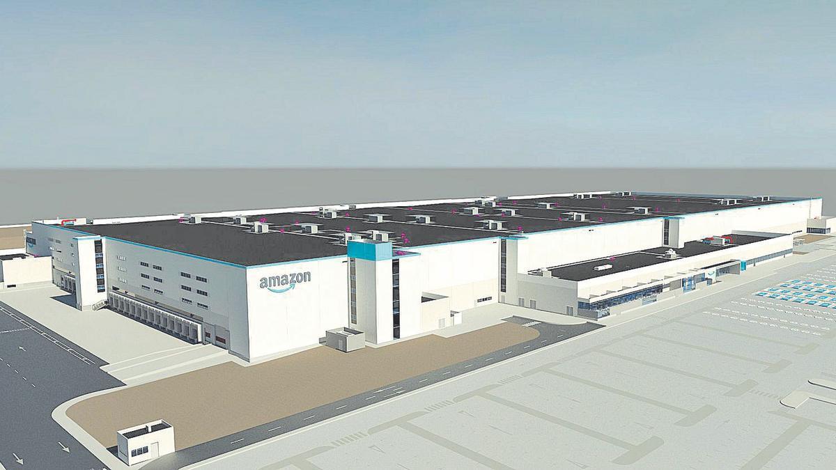 Amazon compartió la maqueta del que será el principal centro logístico de la compañía en la Comunitat Valenciana.