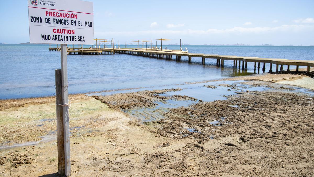 Playa de la urbanización Estrella de Mar, en Cartagena