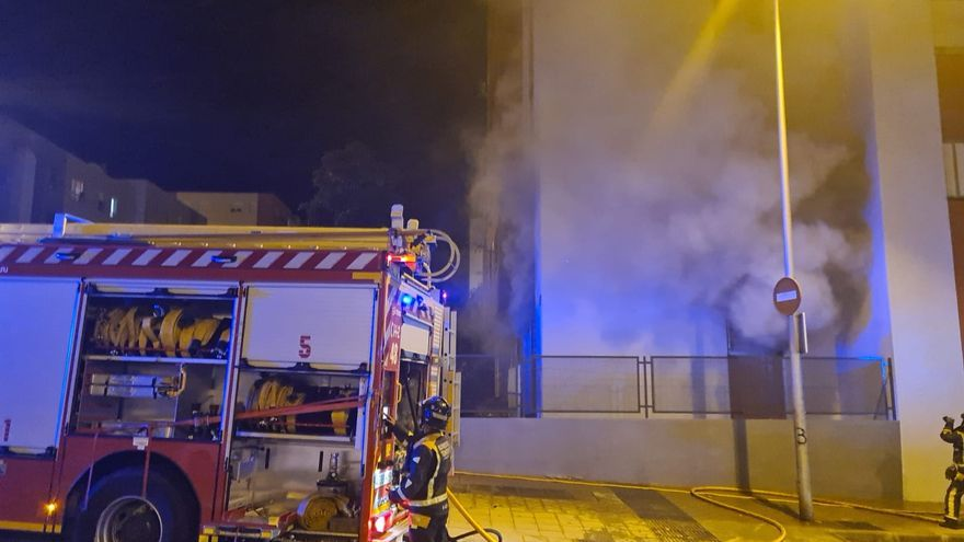 Incendio de una vivienda en Añaza