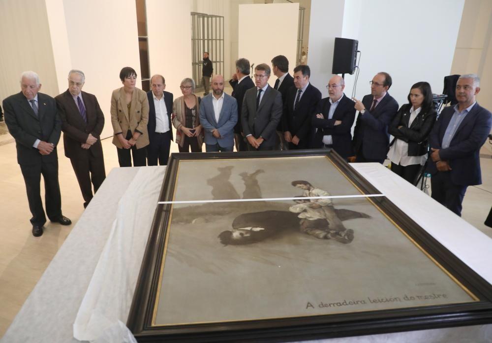 El óleo es la pieza central de la exposición que se abre el viernes en el Gaiás en honor al intelectual.