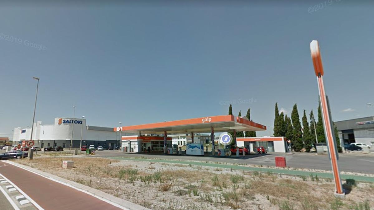 Imagen de la gasolinera asaltada dos días consecutivos durante la presente semana en Castelló.