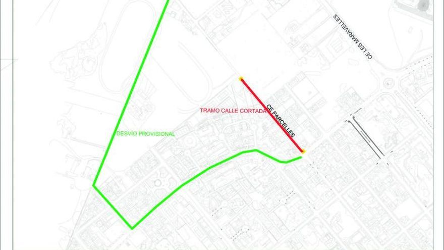 La calle Parcel·les se cerrará al tráfico por obras de renovación en la Platja de Palma