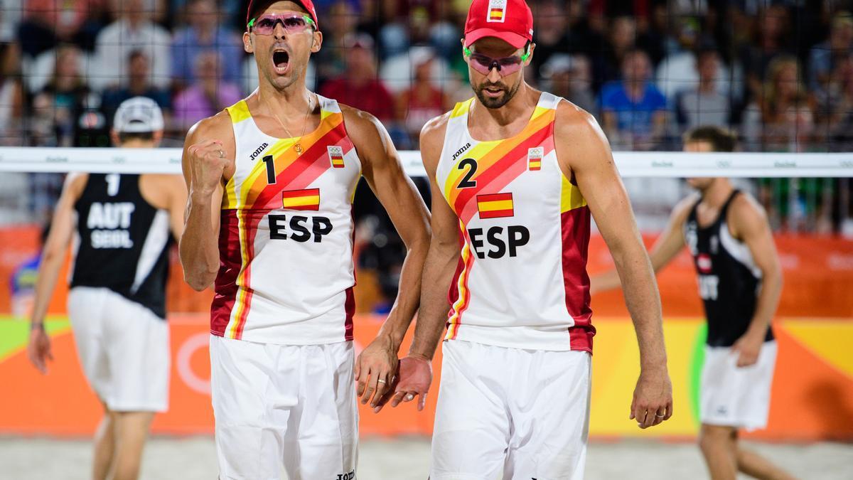 Pablo Herrera y Adrián Gavira en los Juegos Olímpicos de Río 2016.