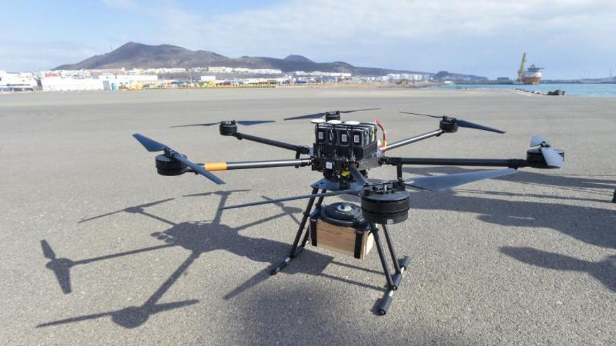Drones para uso logístico portuario