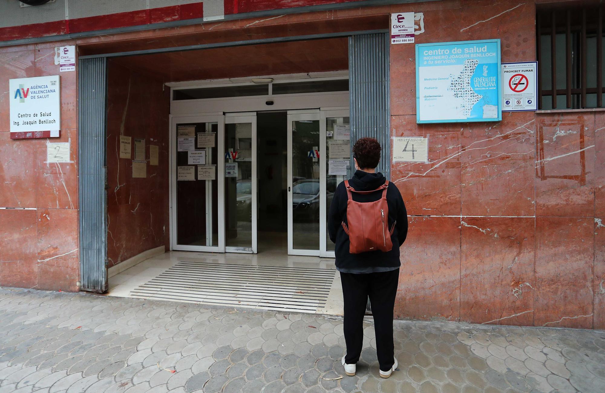 El centro de salud de Ingeniero Joaquín Benlloch, en Malilla, vuelve a la presencialidad