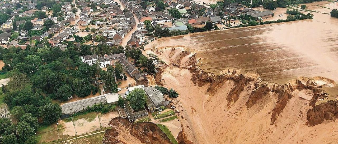 Destrozos causados por el temporal en el distrito de Rhein-Erft-Kreis, al oeste del estado federal de Renania del Norte-Westfalia, en Alemania.