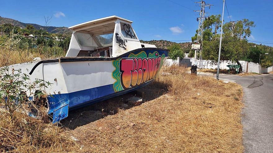 Los barcos abandonados tierra adentro en Málaga