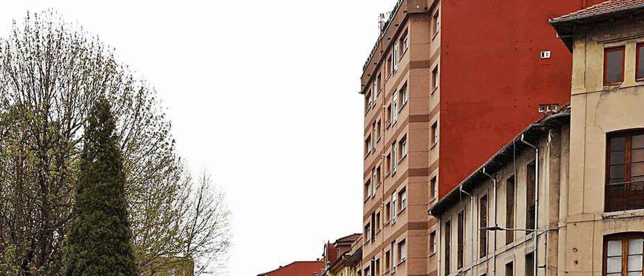 La calle Pedro Duro, en La Felguera.