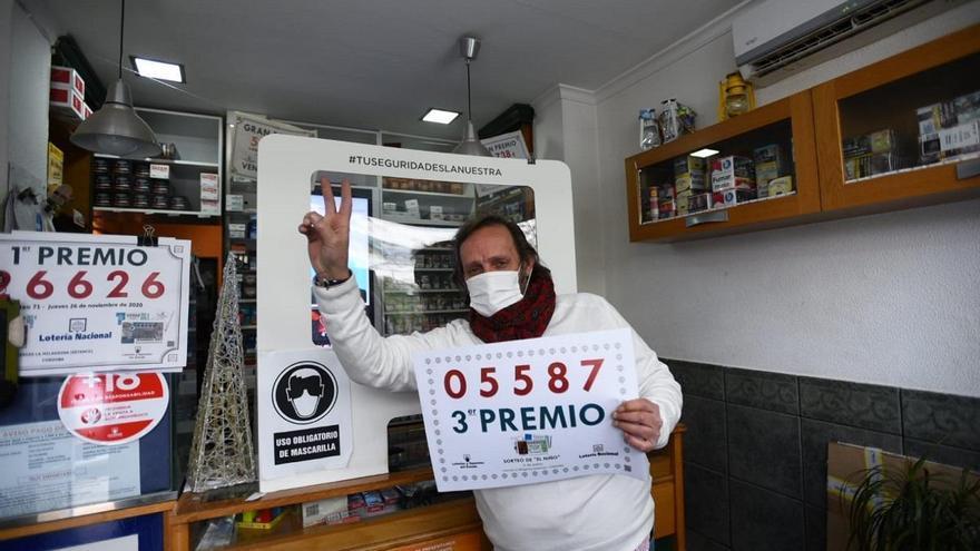 El tercer premio de la lotería del Niño deja en Córdoba un pellizco de 25.000 euros