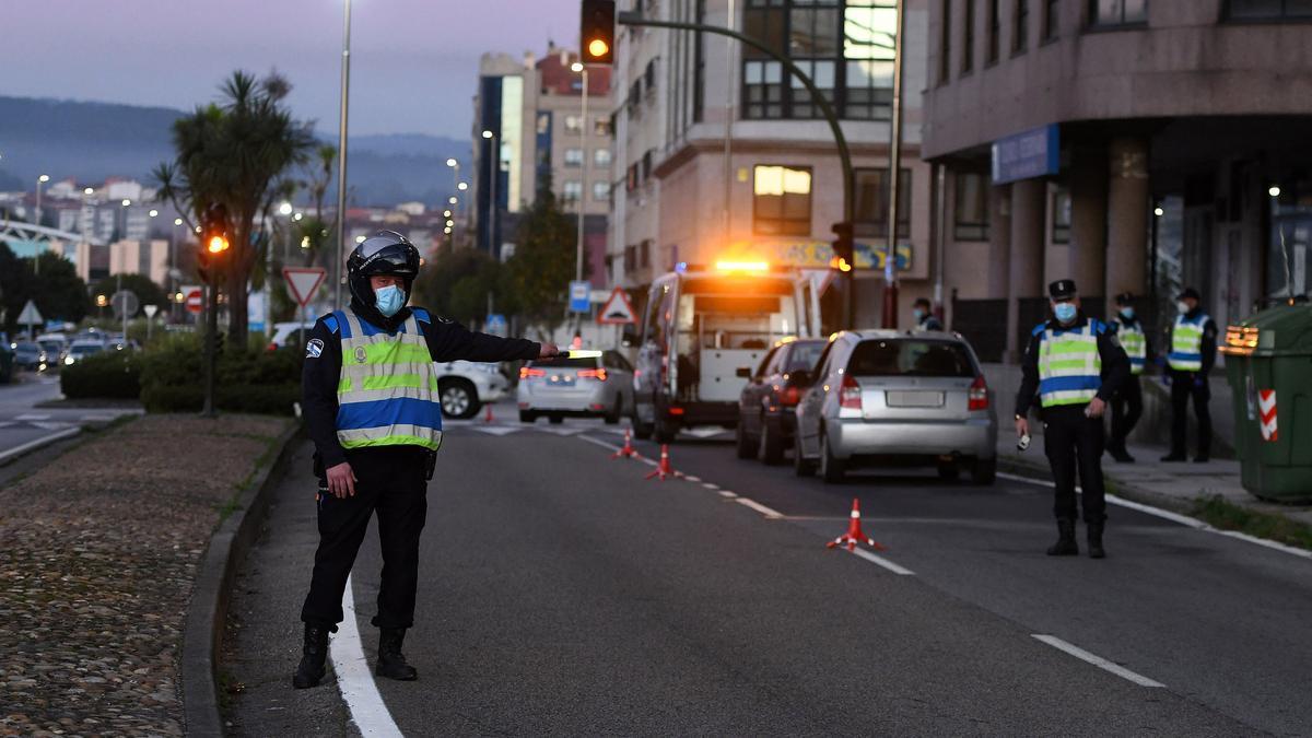 Un control de alcoholemia de la Policía Local