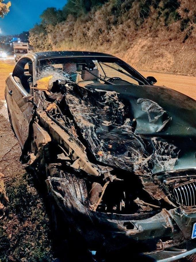 El BMV implicado en el accidente.