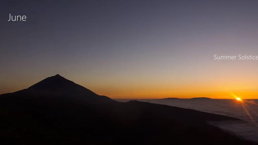 'Time-lapse' de Daniel López con las 365 puestas de sol en Tenerife de este 2020