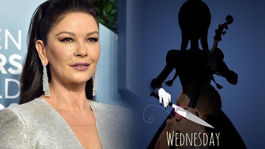 Catherine Zeta-Jones será Morticia Addams en 'Miércoles', la serie de Tim Burton para Netflix