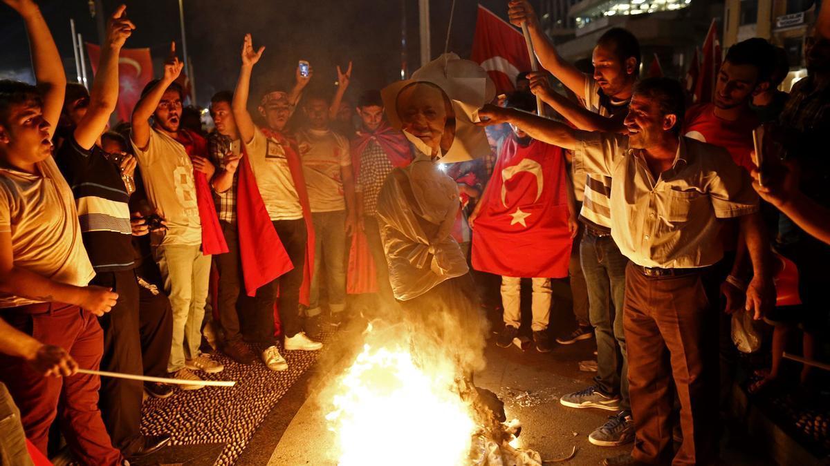 Imagen del fallido golpe de Estado de Turquía en 2016