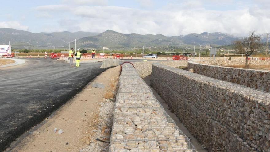 Las obras de conexión de la autopista con los polígonos del Raiguer, en la recta final