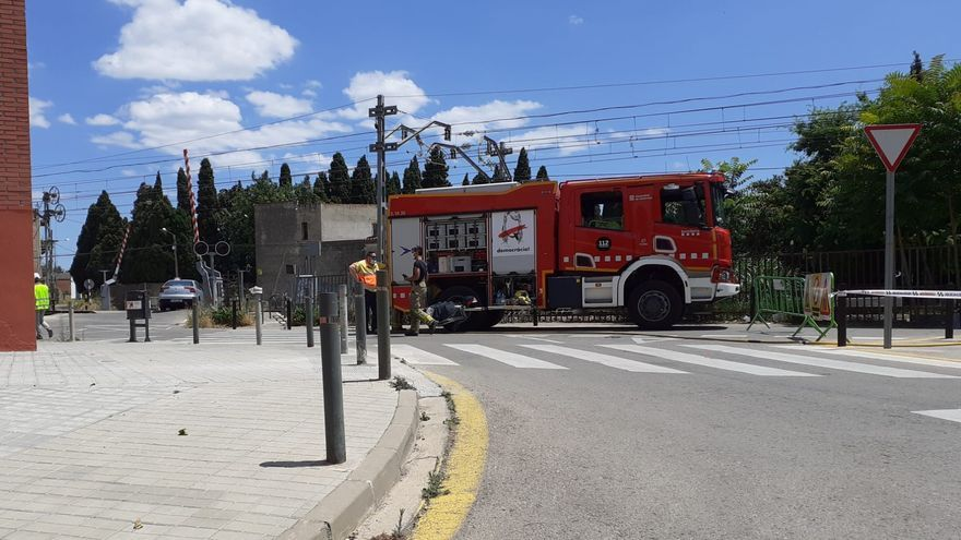 Ensurt a Figueres pel trencament d'una canonada de gas