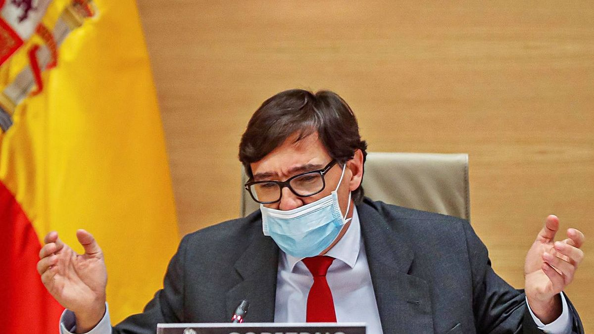 El ministro de Sanidad, Salvador Illa, durante su comparecencia en el Congreso de los Diputados. | | EFE