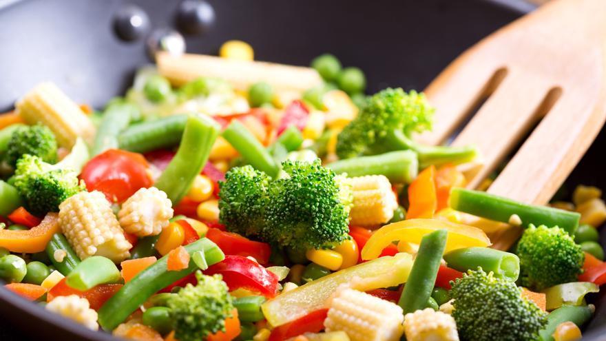 Verduras mixtas salteadas