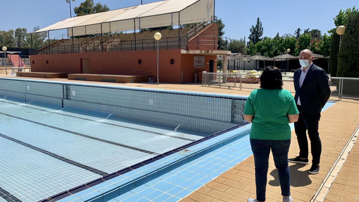 Pedro García Rex ha visitado este lunes las instalaciones de Murcia Parque