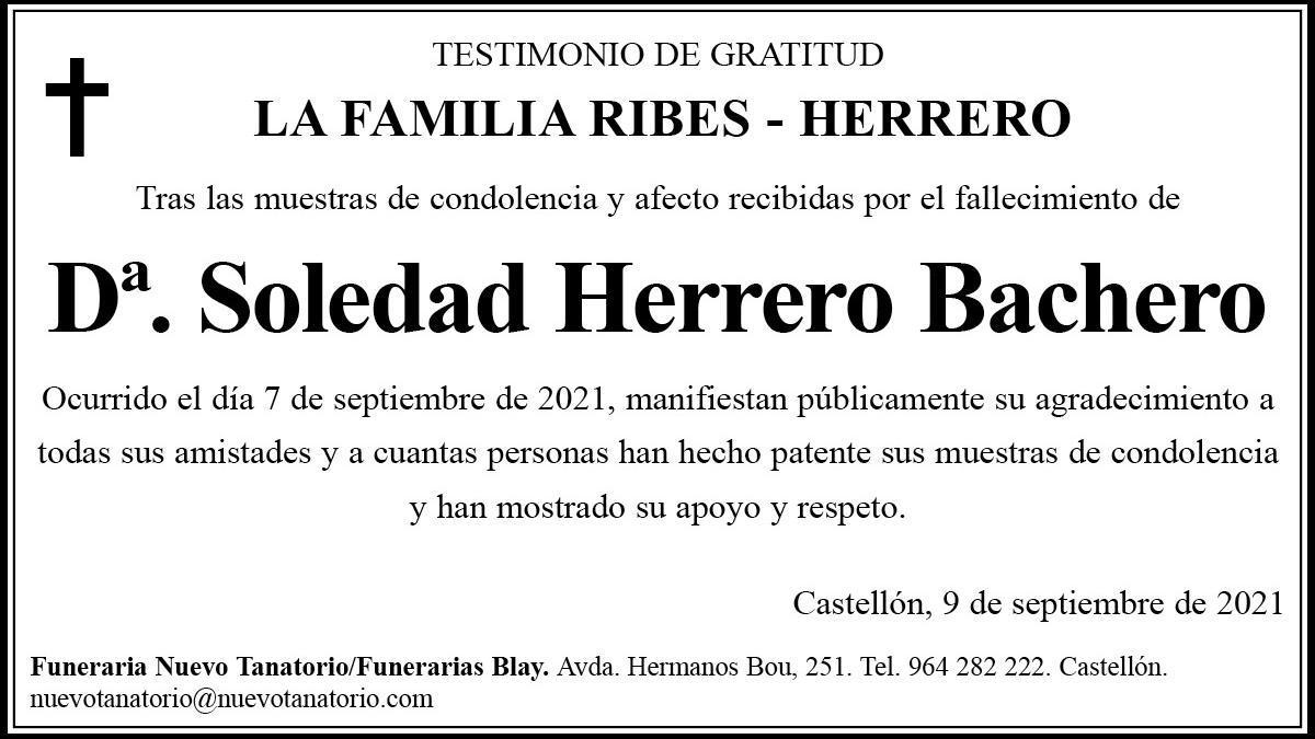 Dª Soledad Herrero Bachero