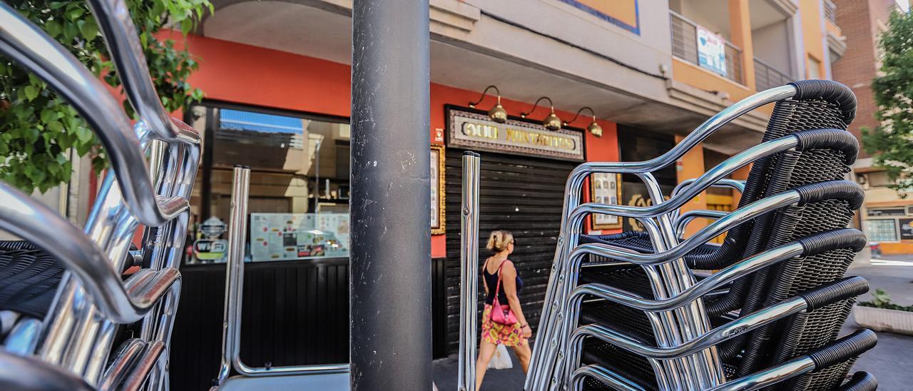 Un bar cerrado por las restricciones del covid en una imagen de archivo