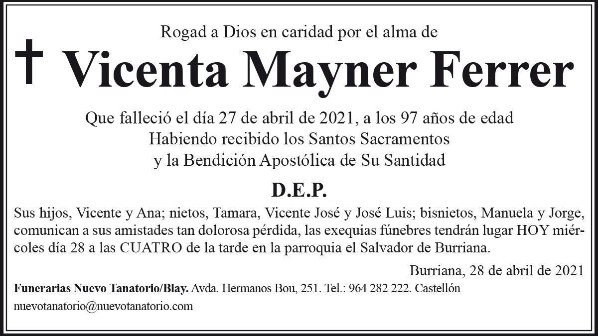 Vicenta Mayner Ferrer