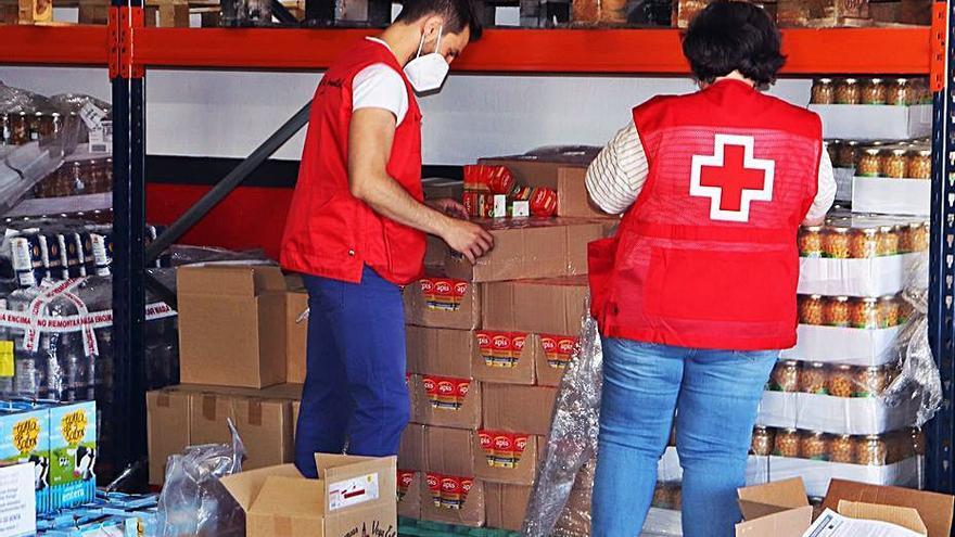 Cruz Roja Zamora distribuirá 13.000 kilos de comida a 281 familias
