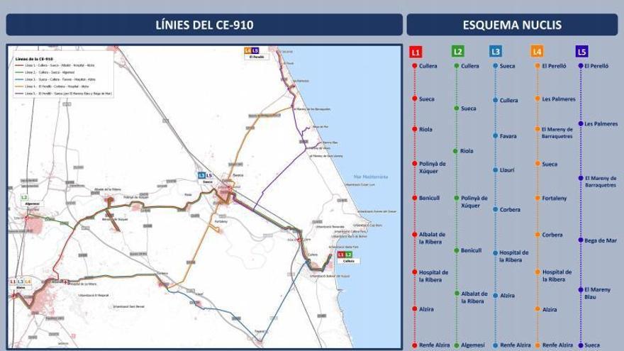 Nuevo servicio de transporte para conectar la comarca en bus