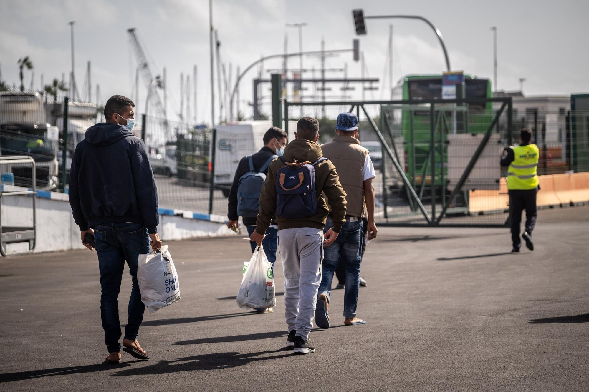 Migrantes, en Santa Cruz de Tenerife