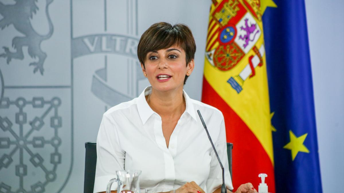 La ministra portavoz, Isabel Rodríguez, comparece en una rueda de prensa tras la reunión del Consejo de Ministros.