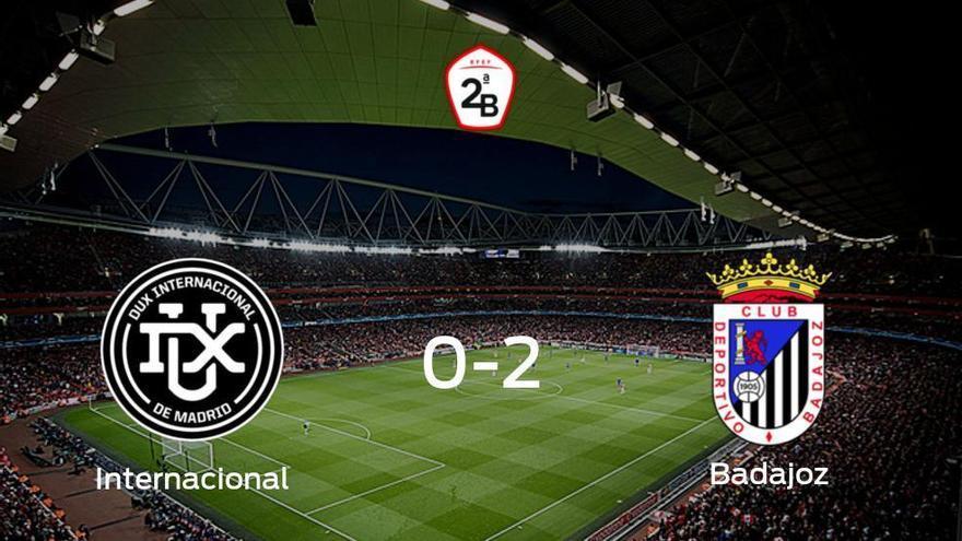 El Badajoz vence 0-2 al Internacional en el Municipal de Villaviciosa