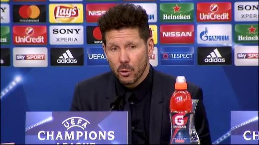 Simeone justifica la sustitución de Gameiro