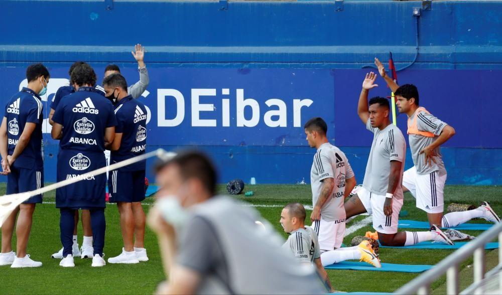 Las mejores imágenes del Eibar - Celta en el inicio de LaLiga. // Íñigo Larreina (AFP7 - Europa Press) | Juan Herrero (EFE)