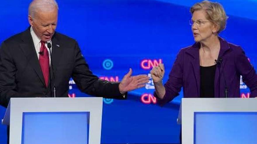 Warren se perfila como la enemiga a batir tras el cuarto debate demócrata